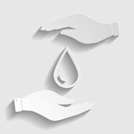energy crisis: Drop of water sign. Flat style icon vector illustration.
