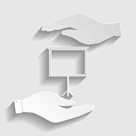 projection: Blank Projection screen. Flat style icon vector illustration. Illustration