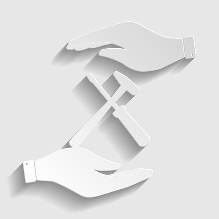 reconditioning: Tools sign. Flat style icon vector illustration.