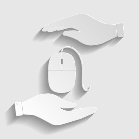 lit collection: Mouse sign. Flat style icon vector illustration. Illustration