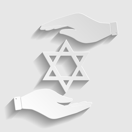 magen: Star. Shield Magen David. Symbol of Israel.