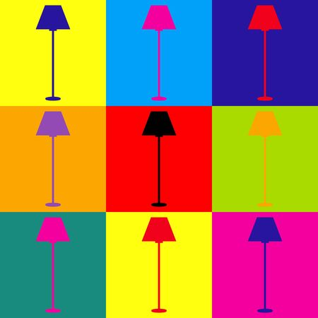 Lamp simple Icon. Pop-art style colorful icons set.