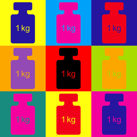 simple store: Weight simple Icon. Pop-art style colorful icons set. Illustration