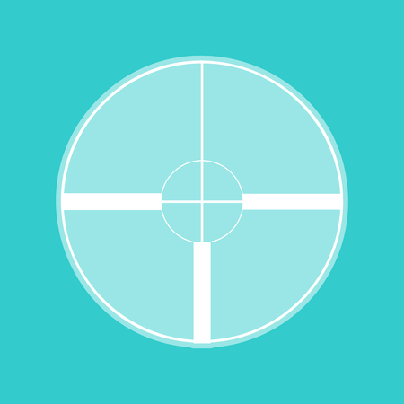whitish: Sight sign. White icon with whitish background on torquoise flat color.