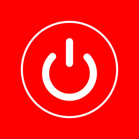 electrical part: On Off switch sign. White icon on red background.