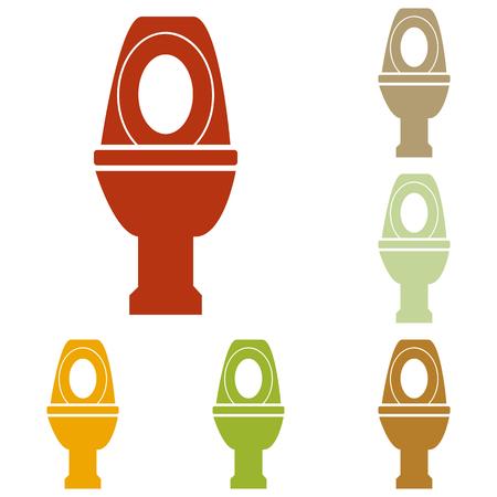 flush toilet: Toilet sign illustration. Colorful autumn set of icons. Illustration