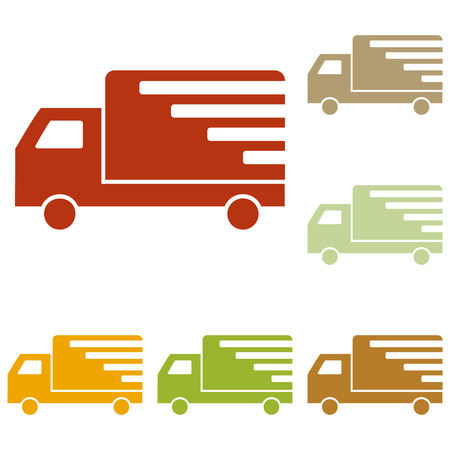 removal van: Delivery sign illustration. Colorful autumn set of icons. Illustration