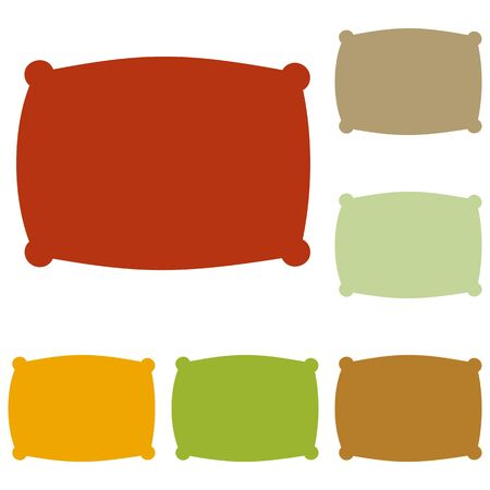cushioned: Pillow sign illustration. Colorful autumn set of icons. Illustration