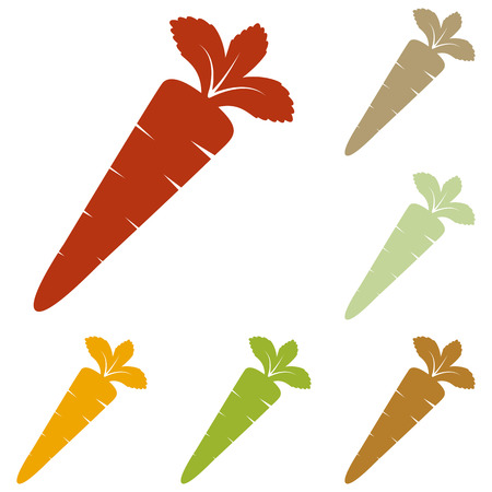 delectable: Carrot sign illustration. Colorful autumn set of icons.