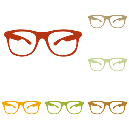 protective eyewear: Sunglasses sign illustration. Colorful autumn set of icons.