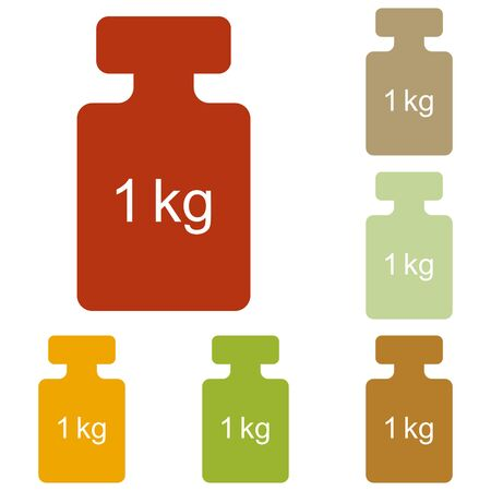 gram: Weight simple sign. Colorful autumn set of icons. Illustration