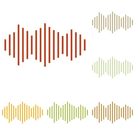 vibrations: Sound waves icon. Colorful autumn set of icons.