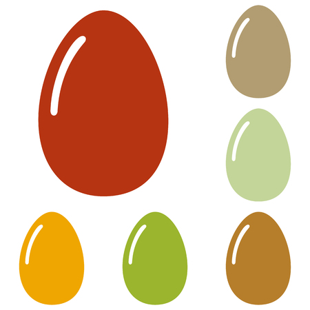 chiken: Chiken egg sign. Colorful autumn set of icons.