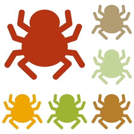 spidery: Spider sign illustration. Colorful autumn set of icons. Illustration