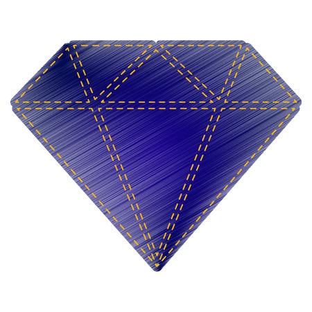 Diamond sign illustration. Jeans style icon on white background.