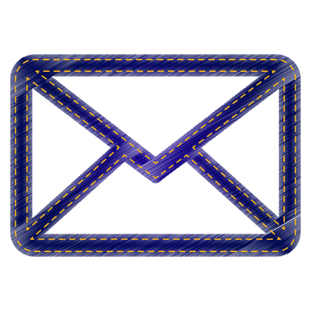 Letter sign illustration. Jeans style icon on white background. Illustration