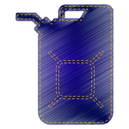 jerry: Jerrycan oil sign. Jerry can oil sign. Jeans style icon on white background. Illustration