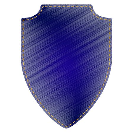 honour guard: Shield sign illustration. Jeans style icon on white background.