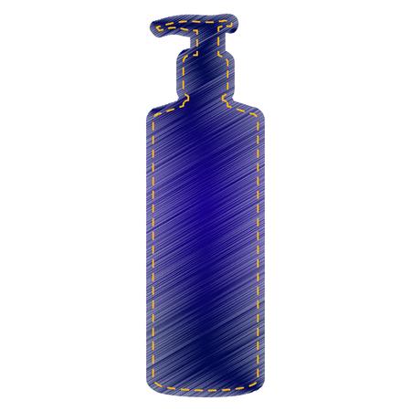 Gel, Foam Or Liquid Soap. Dispenser Pump Plastic Bottle silhouette. Jeans style icon on white background. Ilustração