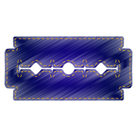 razor blade: Razor blade sign. Jeans style icon on white background. Illustration