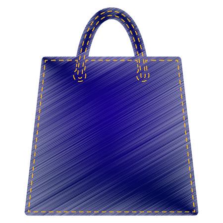 ten empty: Shopping bag illustration. Jeans style icon on white background. Illustration