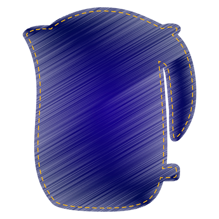 electric kettle: Electric kettle sign. Jeans style icon on white background.