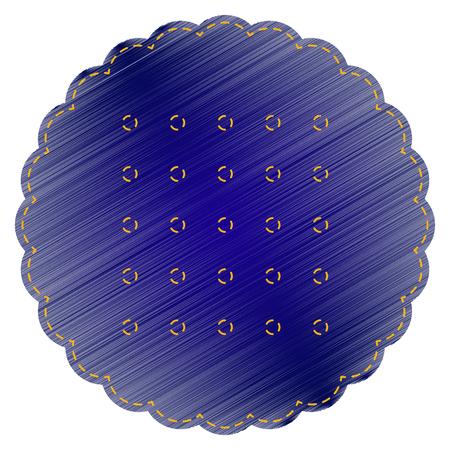 scone: Pyramid sign illustration. Jeans style icon on white background. Illustration