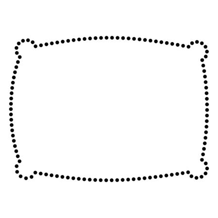 sleeping bags: Pillow sign illustration. Dot style or bullet style icon on white.