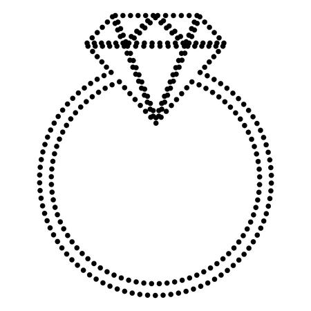 bijou: Diamond sign illustration. Dot style or bullet style icon on white.
