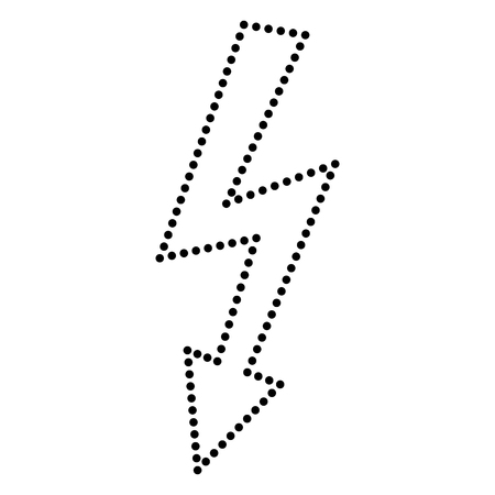 volte: High voltage danger sign. Dot style or bullet style icon on white.