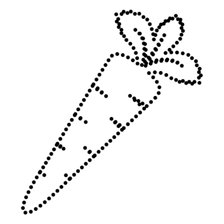delectable: Carrot sign illustration. Dot style or bullet style icon on white.