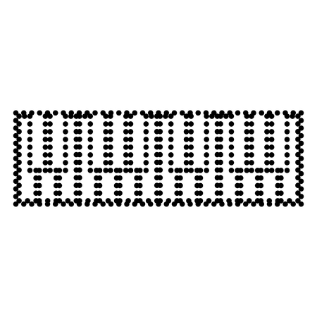clavier: Piano Keyboard sign. Dot style or bullet style icon on white.