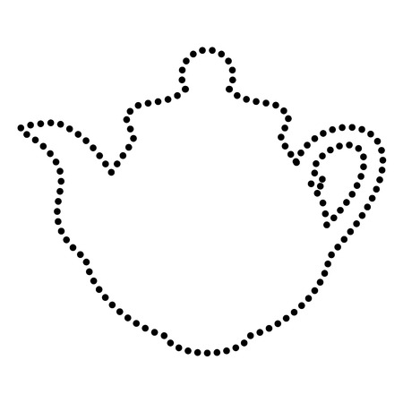sign maker: Tea maker Kitchen sign. Dot style or bullet style icon on white.
