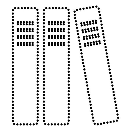 noticeable: Row of binders, office folders icon. Dot style or bullet style icon on white. Illustration