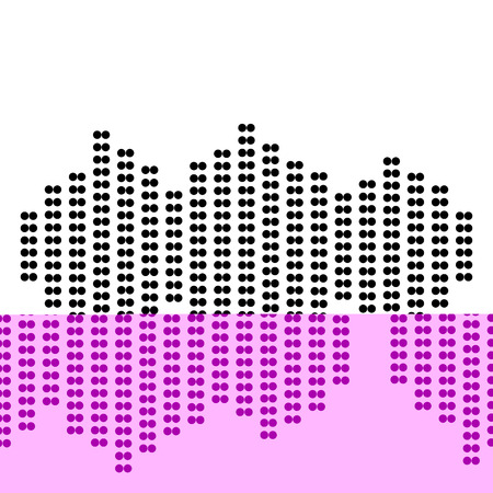vibrations: Sound waves icon. Dot style or bullet style icon on white.