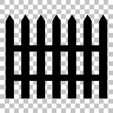 dissociation: Fence simple sign. Flat style black icon on transparent background. Illustration