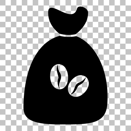 coffee bag: Coffee bag Icon. Coffee bag Vector. Coffee bag Icon Button. Flat style black icon on transparent background.