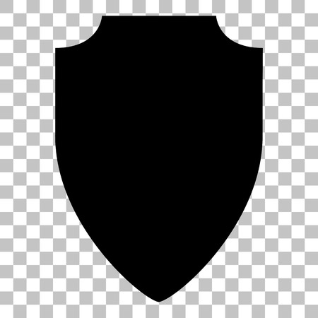 honour guard: Shield sign illustration. Flat style black icon on transparent background.
