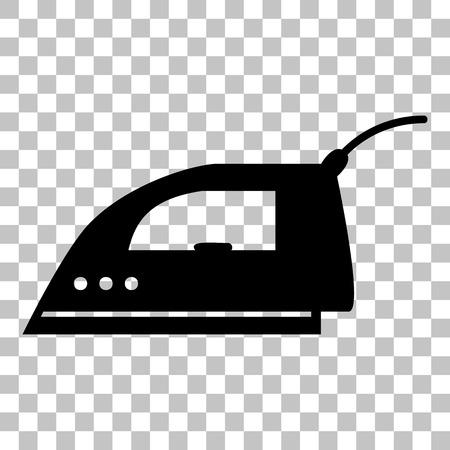 smoothing: Smoothing Iron sign. Flat style black icon on transparent background.