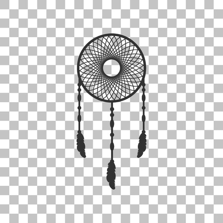 swelled: Dream catcher sign. Dark gray icon on transparent background.