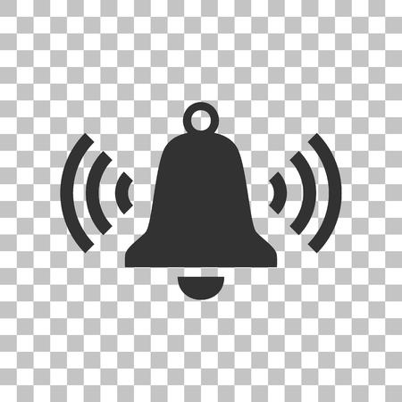 ringer: Ringing bell icon. Dark gray icon on transparent background.