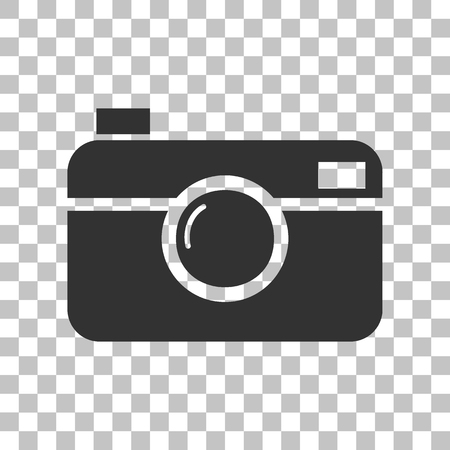 whim of fashion: Digital photo camera sign. Dark gray icon on transparent background. Illustration