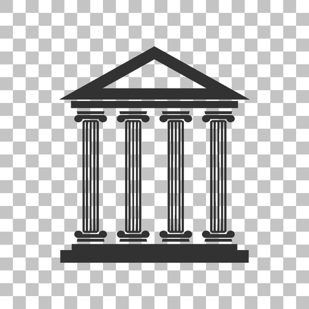 historical: Historical building illustration. Dark gray icon on transparent background.