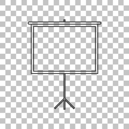 projection screen: Blank Projection screen. Dark gray icon on transparent background.