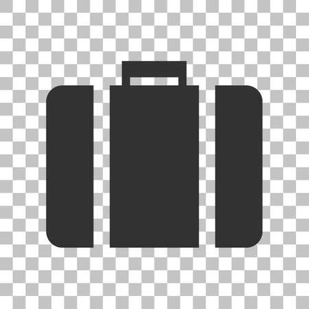 Briefcase sign illustration. Dark gray icon on transparent background.
