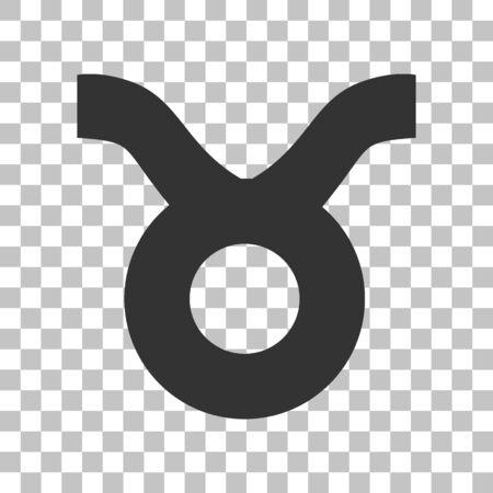Illustration de signe du Taureau. Icône grise foncée sur fond transparent. Vecteurs