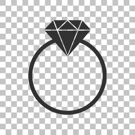 spoil: Diamond sign illustration. Dark gray icon on transparent background. Illustration