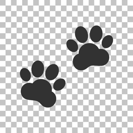 Animal Tracks sign. Dark gray icon on transparent background.