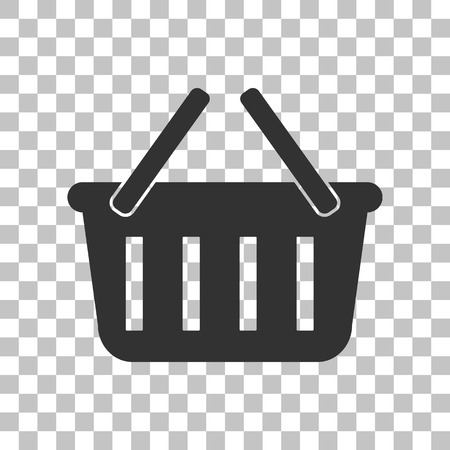 gripping: Shopping basket sign. Dark gray icon on transparent background.