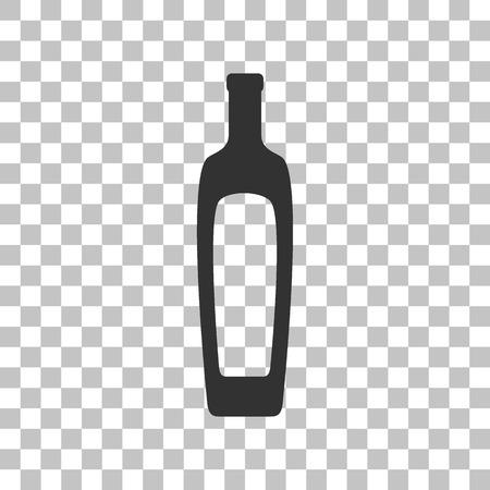 dark olive: Olive oil bottle sign. Dark gray icon on transparent background. Illustration